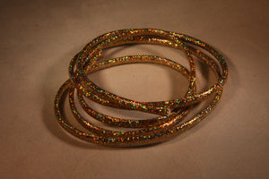 Holographic Mylar Cord Gold