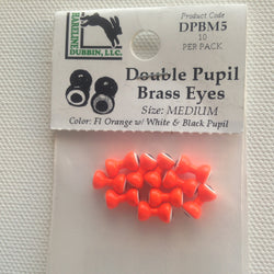 Double Pupil Brass Eye Fluoro Orange