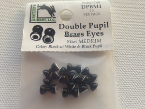 Double pupil brass eye- black