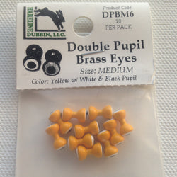 Double Pupil Brass Eye Yellow