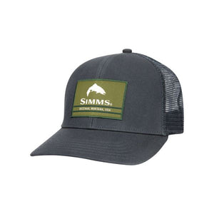 Simms Original Patch Trucker Hat Carbon