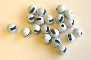 Slotted Tungsten Beads Fluoro White
