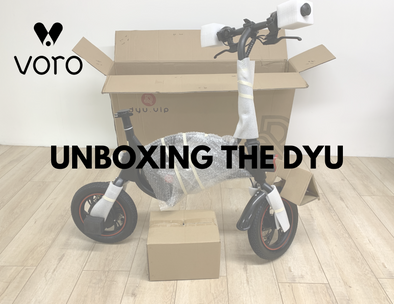 Unboxing the new DYU D1F Seated Electric Scooter