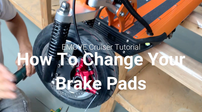 How to replace/change brake pads on your EMOVE Cruiser Electric Scooter?