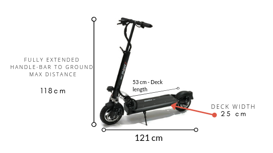 EMOVE Cruiser Electric Scooter Dimensions
