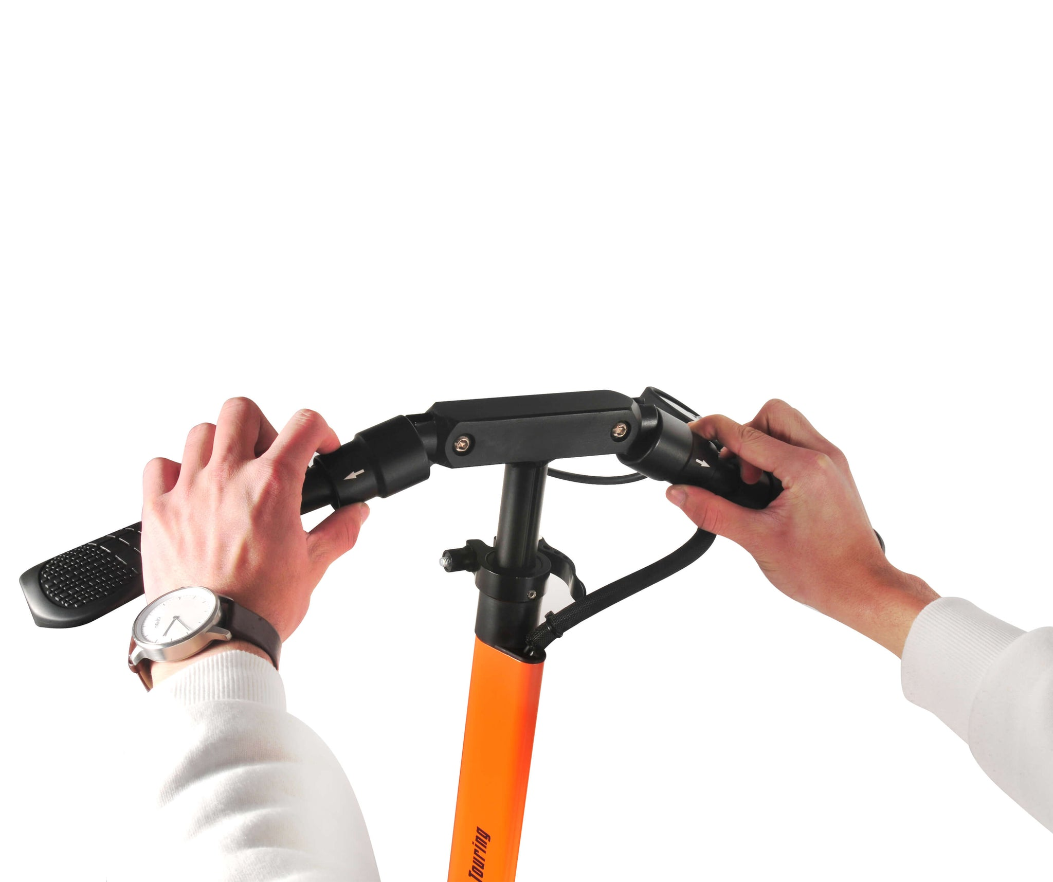 Foldable Handlebar of the EMOVE Touring Electric Scooter