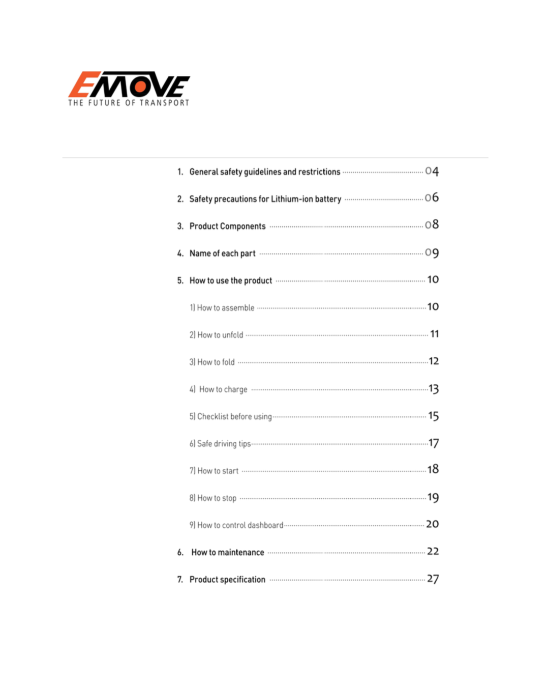 emove cruiser electric scooter user manual