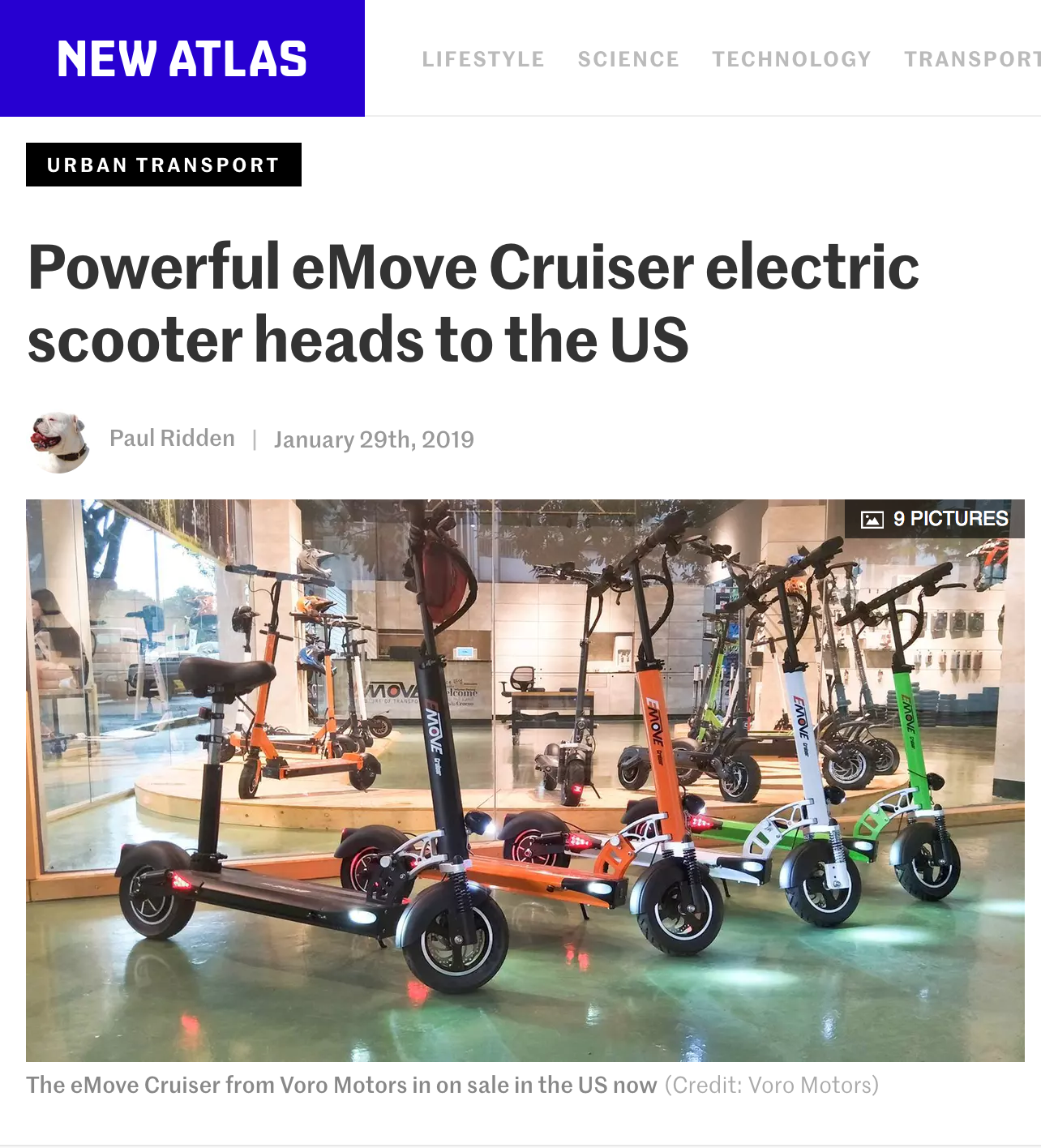 EMOVE Cruiser Electric Scooter New Atlas