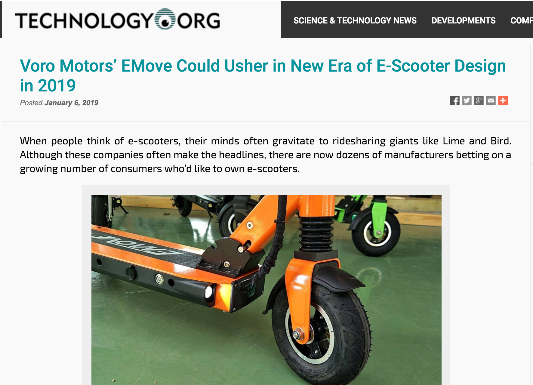 Technology.org EMOVE Scooters
