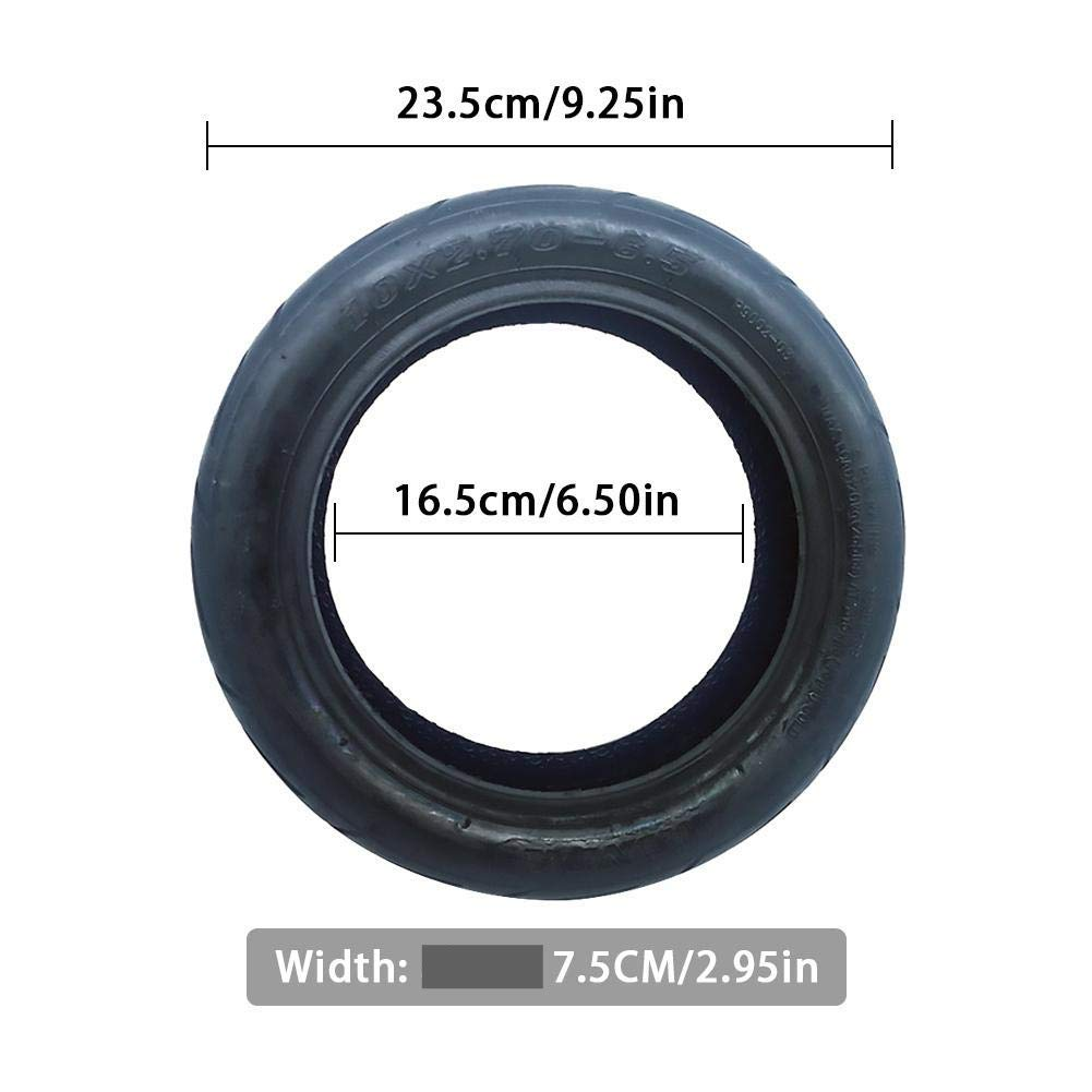 Pneumatic Car Grade Tire for the 2019 EMOVE Cruiser Electric Scooter - Dimensions