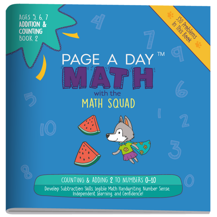 Math Handwriting Introduction Book 2 - Page A Day Math with the Math Squad