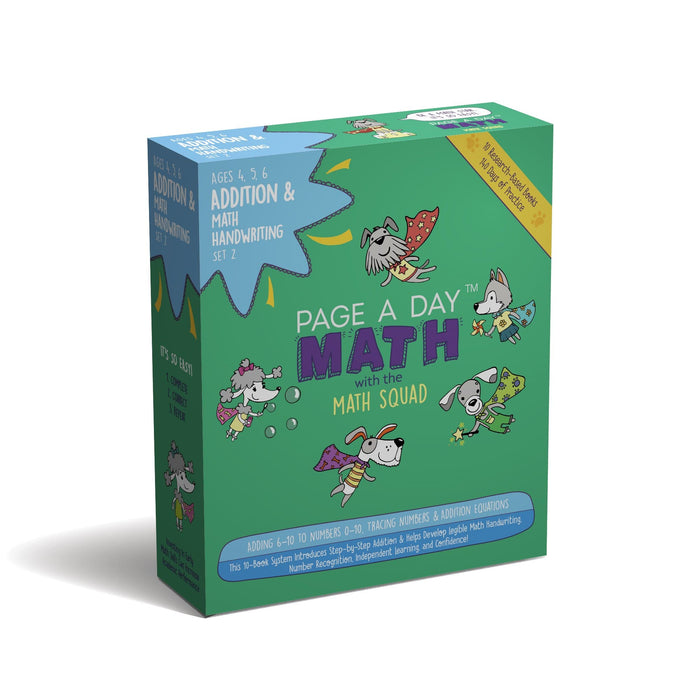 PRE-K ADDITION STARTER - Part C (Ages 4-6 , 10 Books, 6+ Months of Practice)