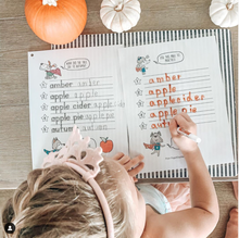 Load image into Gallery viewer, 100 AMAZING AUTUMN Words Print Handwriting Book