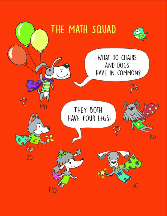 Math Squad Counting, Coloring, and Jokes Activity Book (ages 3+)