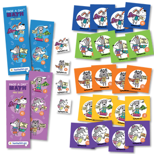 Math Squad Fun Pack | Stickers Tattoos Bookmarks