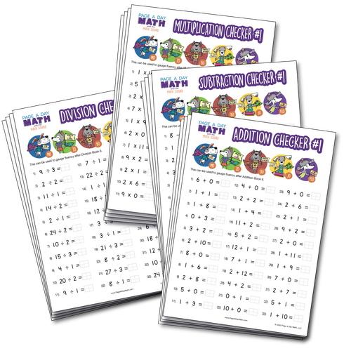 BUNDLE | Math Fluency Assessments