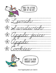 100 EATS & TREATS Cursive Handwriting Books