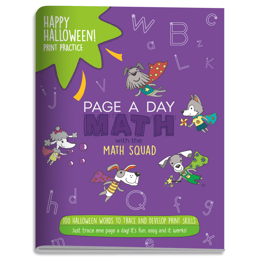 100 HAPPY HALLOWEEN Words Print Handwriting Book