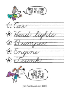 100 HAPPY HOME Words Cursive Handwriting Book