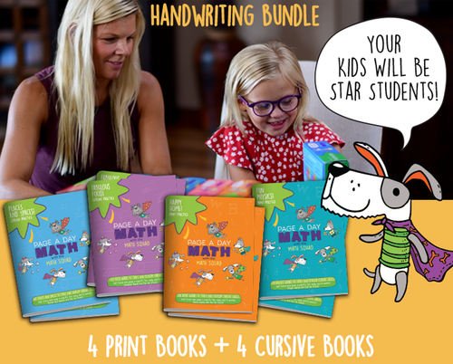 [Bundle] 8 Handwriting Books for Learning Print and Cusive Handwriting