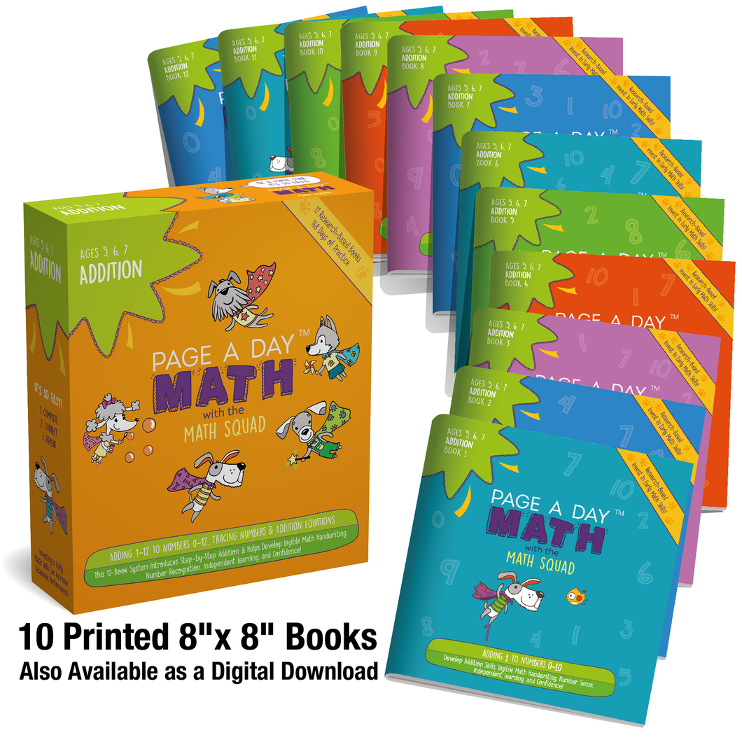 Addition for 1st and 2nd grade | up to 12+12