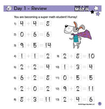 Load image into Gallery viewer, PRE-K/Kindergarten Addition Review Book | up to 10+10=20