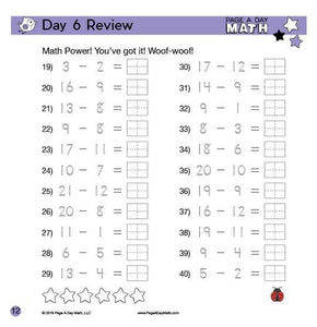 Review Book: Subtraction & Handwriting