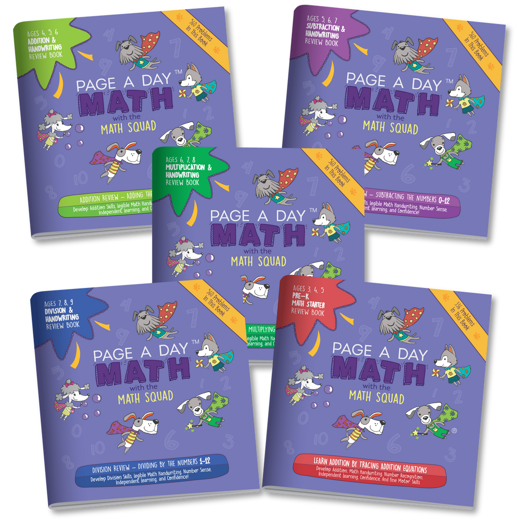 BUNDLE | 5 Math Review Books for Addition Subtraction Multiplication and Division Fluency
