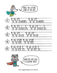100 SUPER SIGHT WORDS Print Handwriting Book