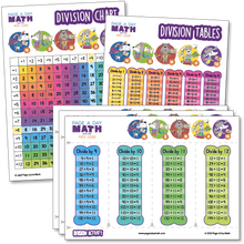 Load image into Gallery viewer, Division Table + Division Chart + Division Activity  | Laminated or Printables