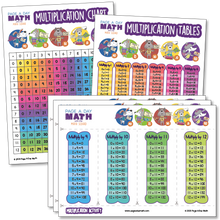 Load image into Gallery viewer, Multiplication Table + Multiplication Chart + Multiplication Activity  | Laminated or Printables