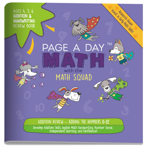 ADDITION & HANDWRITING Review Book - Page A Day Math with the Math Squad