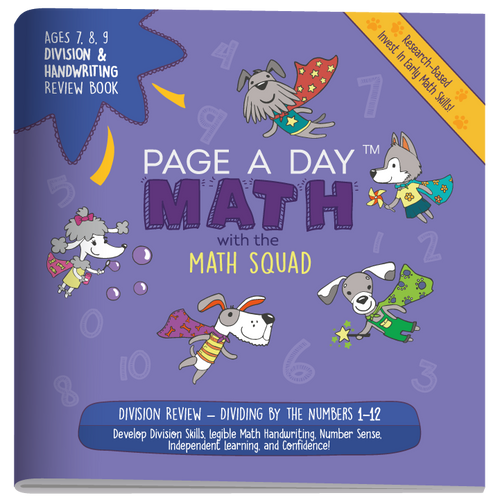 DIVISION & HANDWRITING Review Book - Page A Day Math with the Math Squad