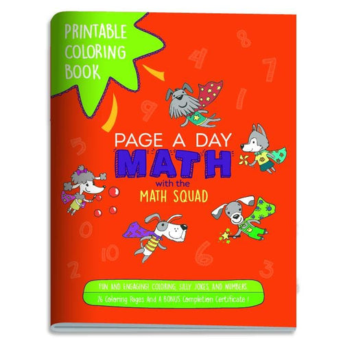 Coloring Book w/Counting, Jokes and the Adorable Math Squad