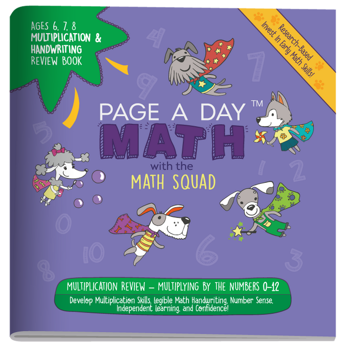 MULTIPLICATION & HANDWRITING Review Book - Page A Day Math with the Math Squad