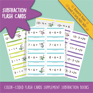 Bonus Series 7 ~ SUBTRACTION - Page A Day Math with the Math Squad