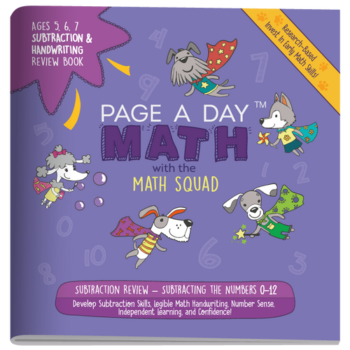 SUBTRACTION & HANDWRITING Review Book - Page A Day Math with the Math Squad