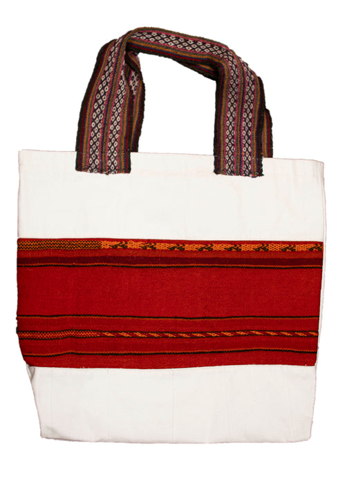 Land R, Peruvian Made, Alpaca Fibers Strap, Handwoven Tote Bags, Descarada