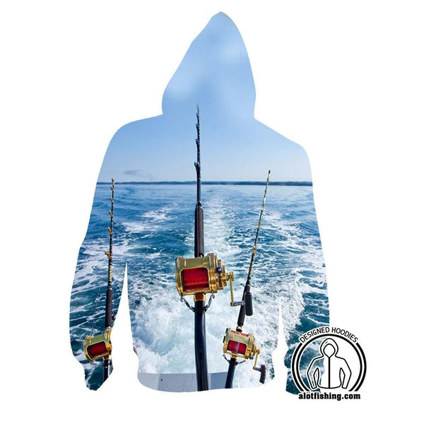 Fishing Hoodies - 3D Print Unisex Zip Up Hoodies - Deep Sea Fishing
