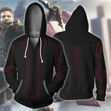 Avengers Hoodies - Hawkeye V2 Cosplay Zip Up Hoodie