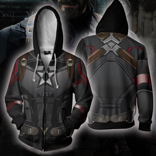 Captain America Hoodies - Infinity War Costume Zip Hoodie Hoodies