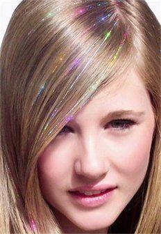 Unicorn Hair style: Hair Tinsel Glitter Bling Strands Multicolor ( set=100 strands)