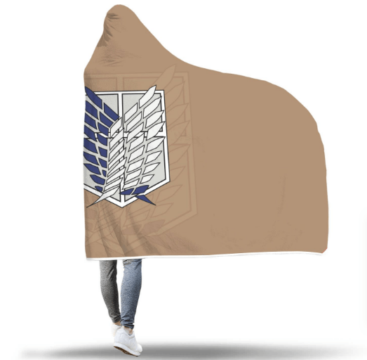 Attack On Titan Hooded Blanket