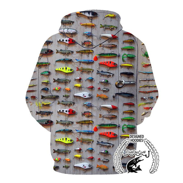 Fishing Hoodies - 3D Print Unisex Hoodie - Fishing Lures