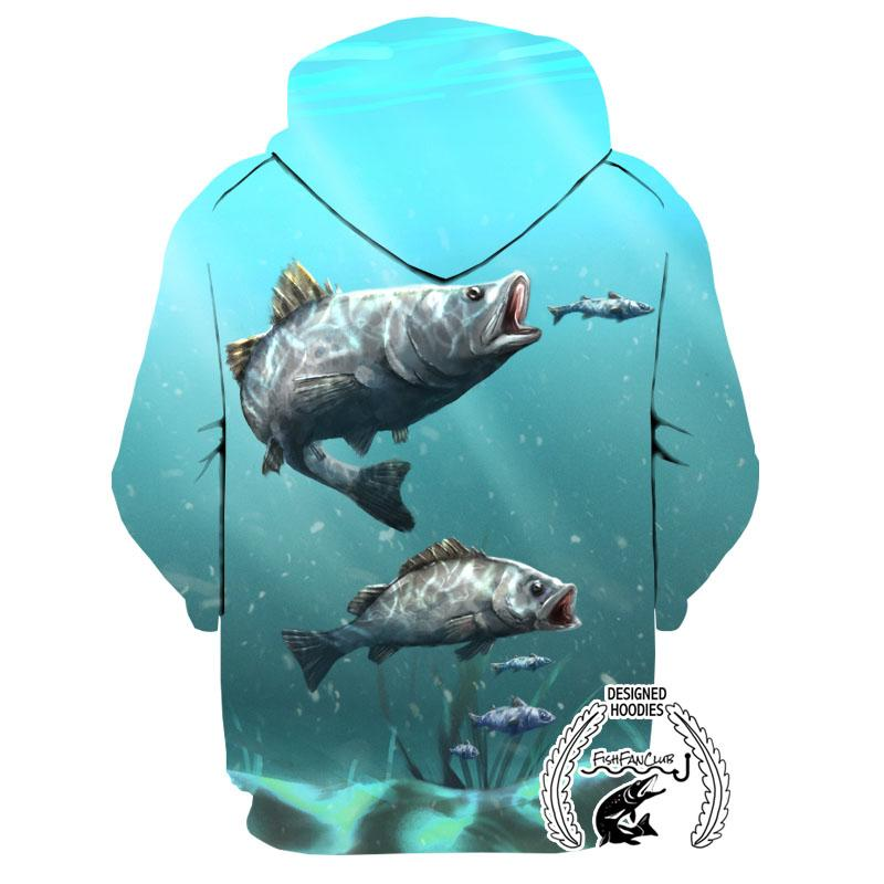 Fishing Hoodies - 3D Print Unisex Pull Over Hoodies - Barramundi