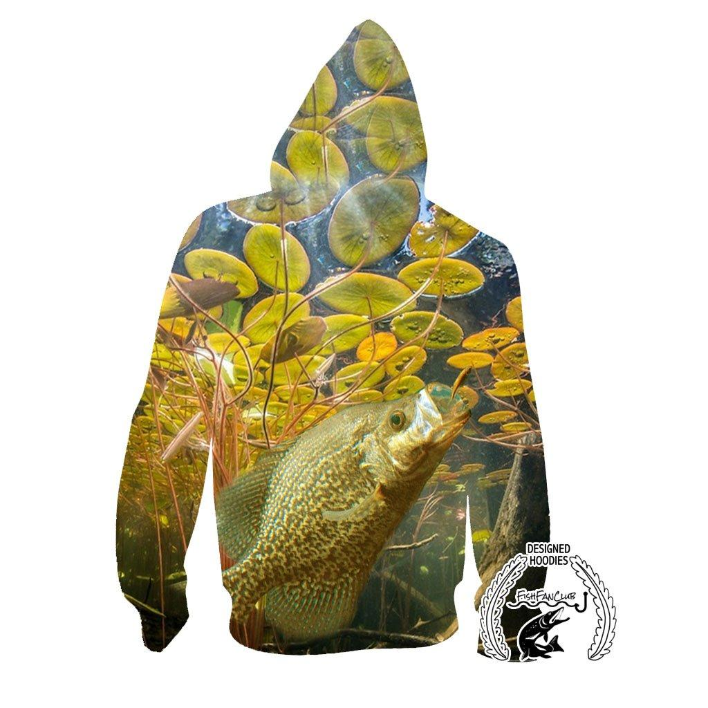 Fishing Hoodies - 3D Print Unisex Pull Over Hoodies - Crappie Series A