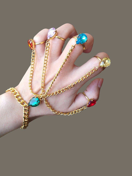 2018 Hot Movie Avengers: Infinity War Thanos Infinity Gauntlet Handchain Bracelet Ring Cosplay Accessories