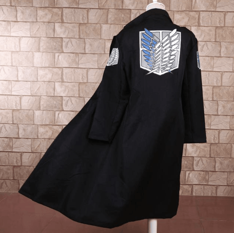 Attack on Titan Black Jacket Cloak Cosplay