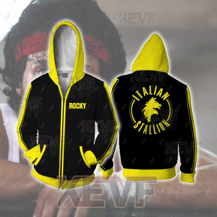 Rocky Hoodies - Rocky Balboa Cosplay Zip Up Hoodie