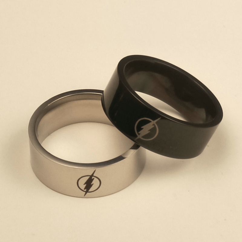 The Flash Tungsten Ring - Custom Laser Engraved